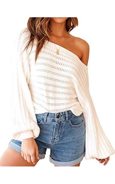 Oversized Off Shoulder Sweater