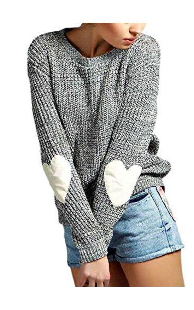ZXZY  Heart Pattern Sweater