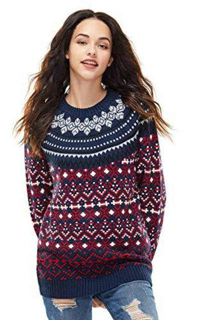 Unisex Christmas Sweater Ugly Pullover Knit
