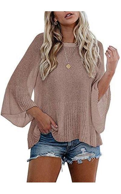 MEROKEETY Knit Pullover