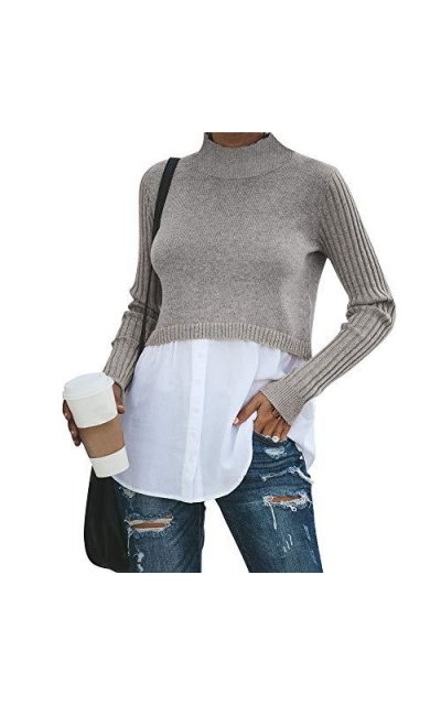 Exlura  2 in 1 Pullover Sweater Tops