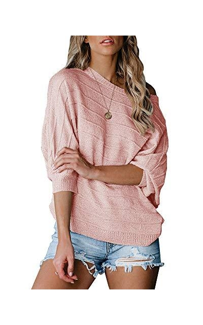Foshow Off Shoulder Pullover Sweater