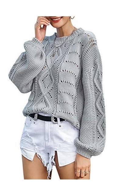 Miessial  Cable Knit Sweater