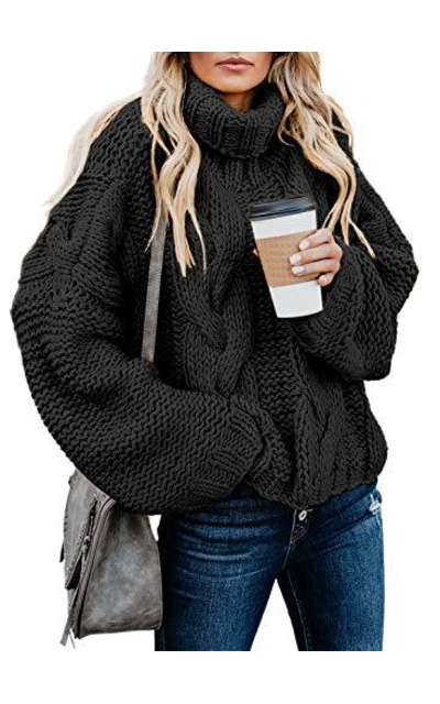 Dokotoo Turleneck Cable Knit Sweater