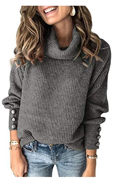 MissyLife Turtleneck Knit Sweater