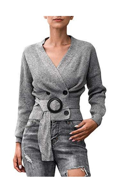 Sollinarry Sweater Cardigan with Belt