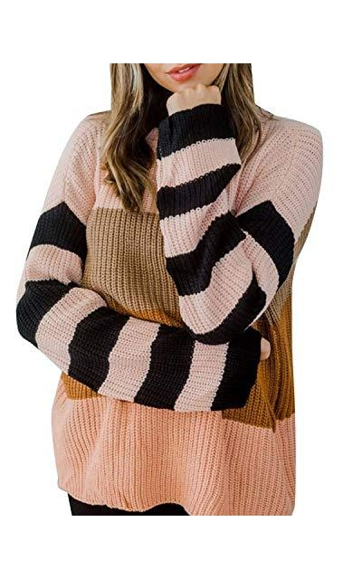 cordat Color Block Oversized Sweater