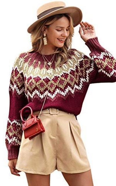 Miessial Boho Pullover Sweater