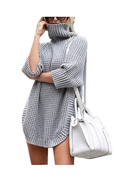 Relipop Pullover Turtleneck Sweater Tunic