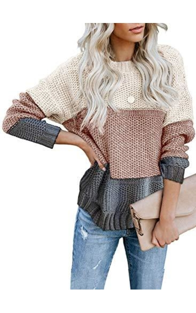 LOSRLY Color Block Sweater