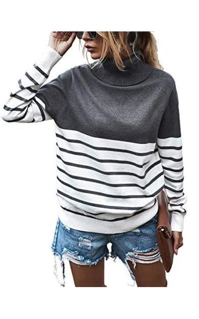 KIRUNDO 2020 Turtleneck Knitted Sweater
