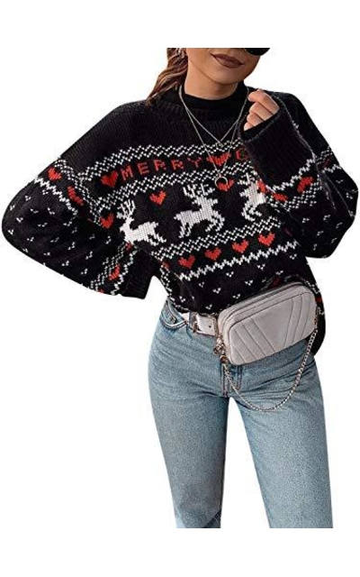 Fargeous Crewneck Long Sleeve Ugly Christmas Knit Pullover Sweater
