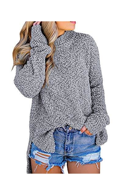 Imily Bela Fuzzy Knitted Sweater