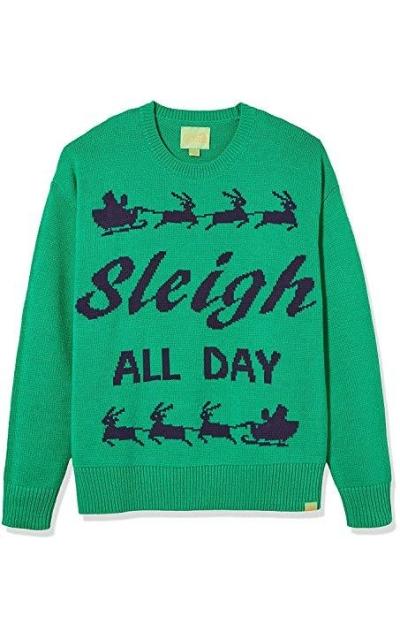 Ugly Fair Isle Unisex Sleigh All Day  Sweater