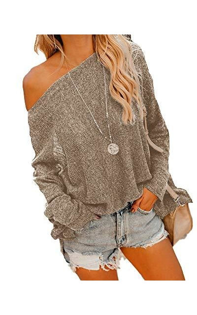Geckatte  Off Shoulder Lightweight  Sweater Jumper
