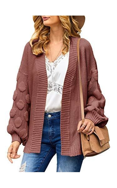 YeMgSiP Open Front Chunky Cardigan
