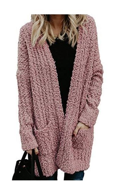 Asvivid Popcorn Sweater Cardigan