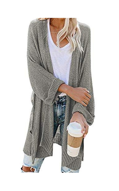 CPOKRTWSO Open Front Cardigan Sweater