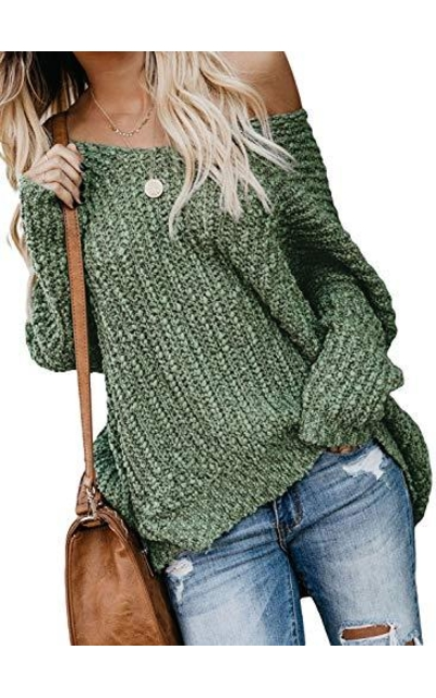 Dearlove Off The Shoulder Oversized Pullover Sweaters