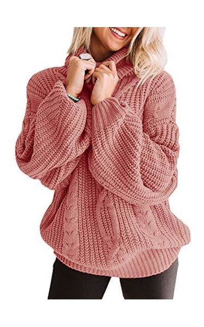 Tutorutor Oversized Batwing  Chunky Sweater