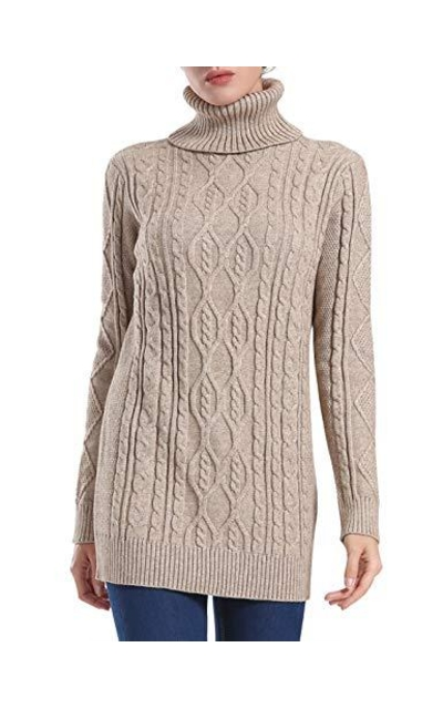 PrettyGuide Long Turtleneck Sweater