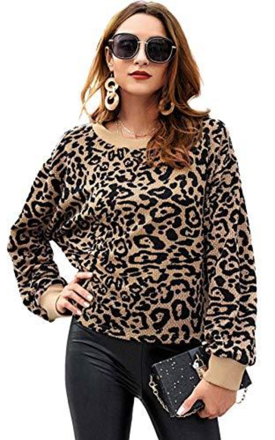SweatyRocks Leopard Sweater
