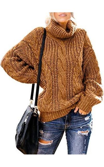 Acelitt Oversized Chunky Knit Sweater