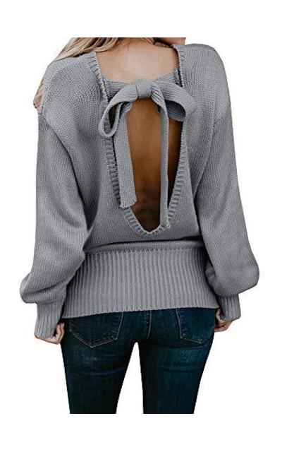 Geckatte Backless Sweater