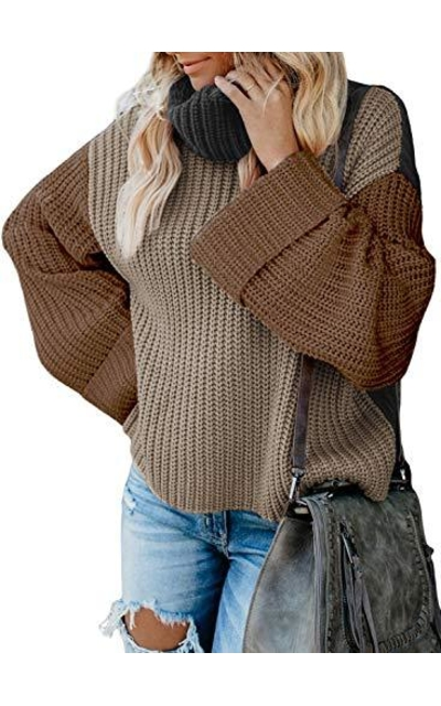 Oversized Chunky Pullover Turtleneck Sweater