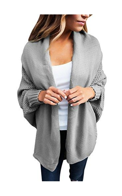 Dolman Sleeve Open Cardigan Sweaters