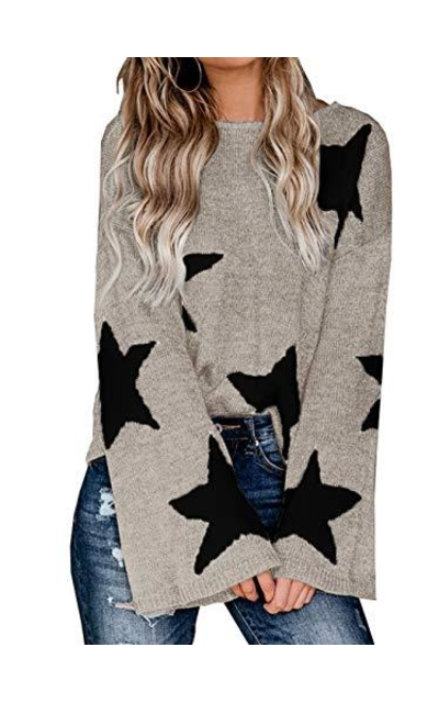 PRETTYGARDEN Star Sweater