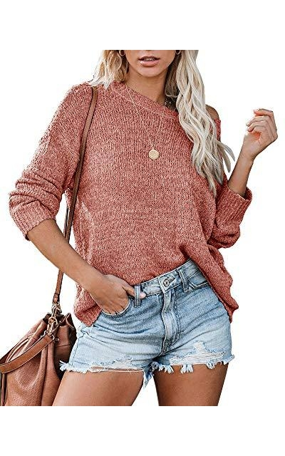 Tutorutor Off Shoulder Pullover Sweater