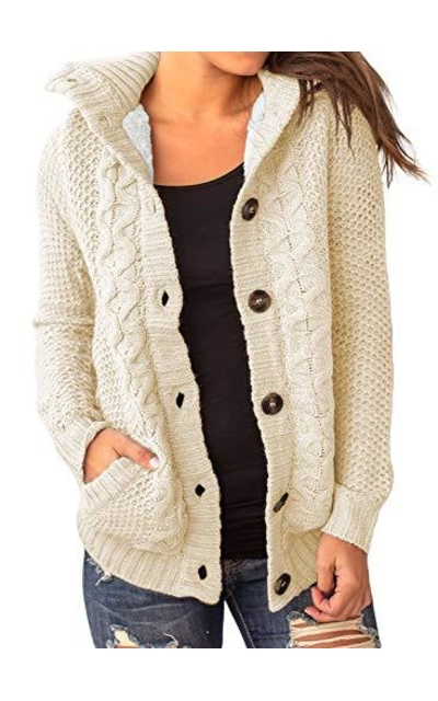 Sidefeel Hooded Sweater Cardigans