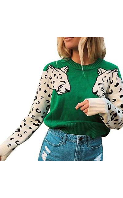vnytop Leopard Sweater
