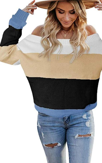 ETCYY Colorblock Sweater