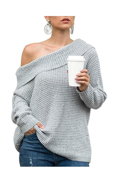 iTVTi  Off Shoulder Knit Sweater