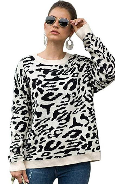 Carprinass Leopard Sweater