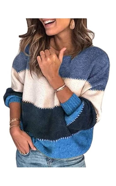 Aiopr Color Block Sweater
