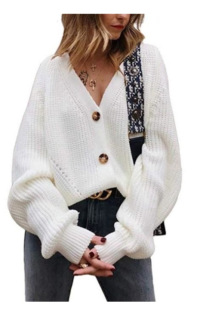 Exlura Front Button Down Cardigan Sweater