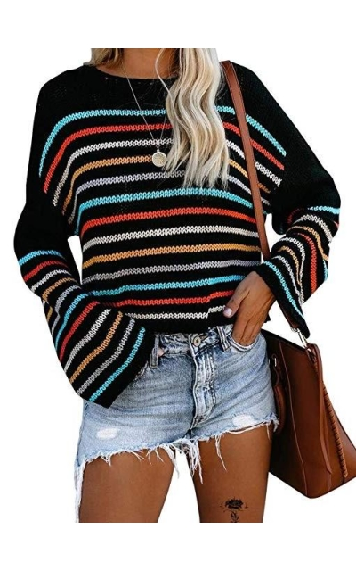Selatamy Striped Color Sweater Jumper