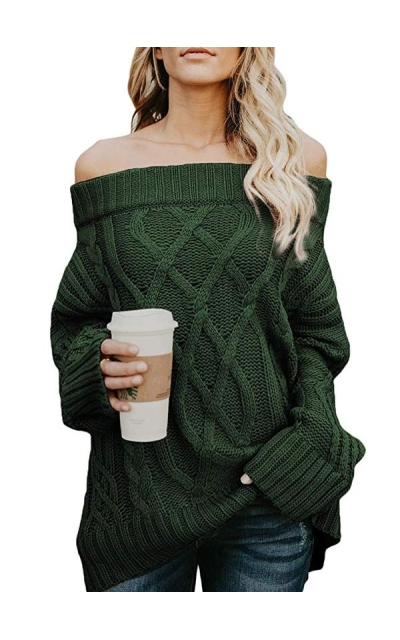 Dearlovers  Sexy Off Shoulder Sweater