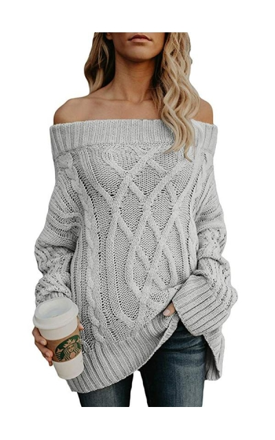 Astylish Off The Shoulder Oversized Sweater