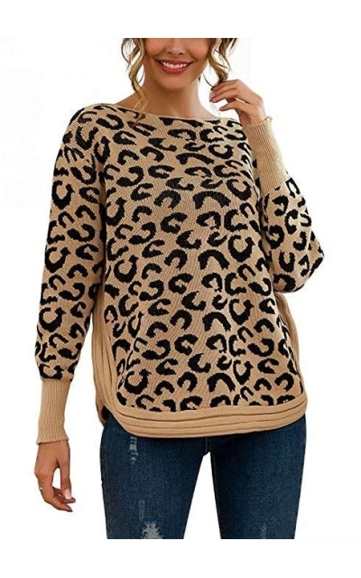 Pjjgerly Leopard Print Sweater