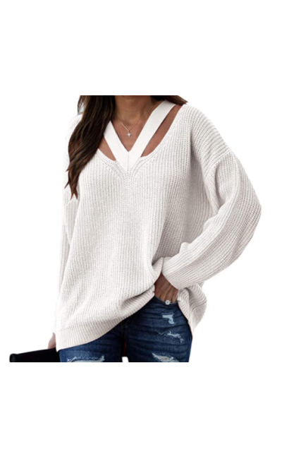 Aurgelmir Cut Out Oversized Knitted Sweater