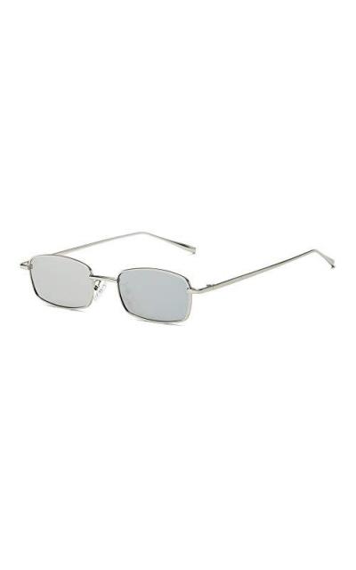 FEISEDY Vintage Slender Square Sunglasses