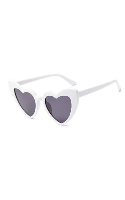 JUSLINK Heart Shaped Sunglasses