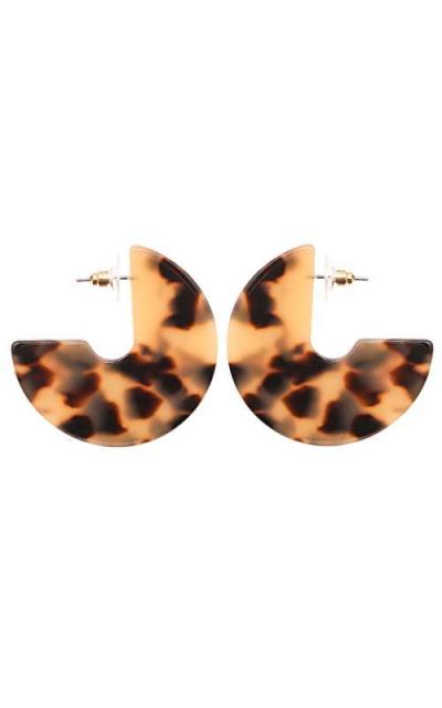 Acrylic Resin Round Hoop Earrings