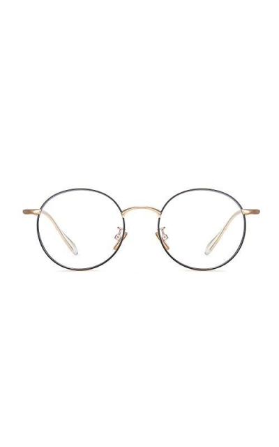 Versol Retro Round Metal Blue Light Glasses