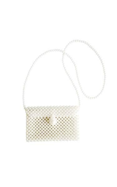 Beaded Pearl Flap Crossbody