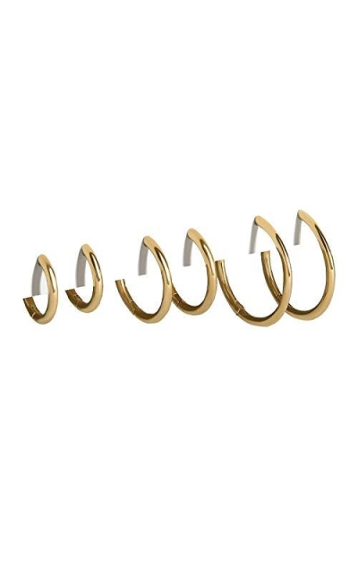 14K Gold Plated Lightweight Hoops Set